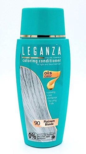 Leganza Färbender Conditioner Farbe 90 Platinblond Mit 7 natürlichen Ölen Ammoniak und Paraben frei