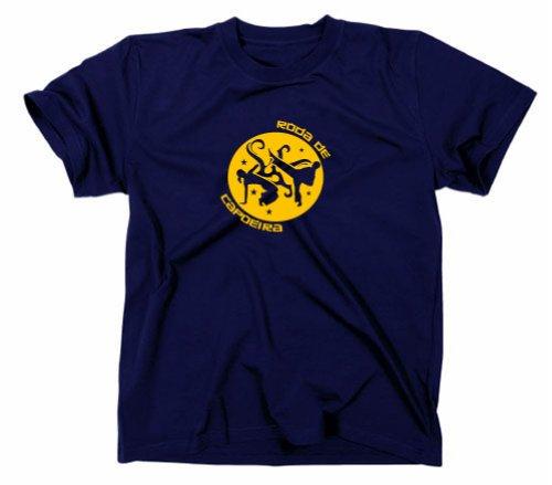 Roda de capoeira Brasilien / Brasilia T-Shirt, marineblau, XXL