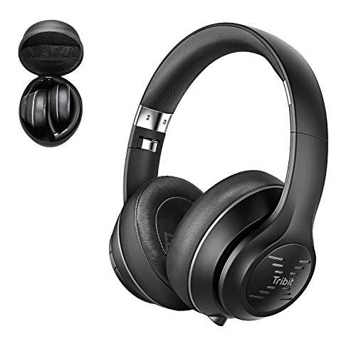 [Aufrücken] Bluetooth Kopfhörer über Ohr, Tribit XFree Tune Faltbarer Kabellose Hi-Fi Stereo Wireless Kopfhörer on Ear mit Perfekte Bass & Soft Memory Protein Ohrenschützer, 40 Stunden Spielzeit