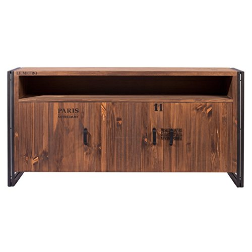 Indhouse-Sideboard Metall und Holz in Vintage Michigan