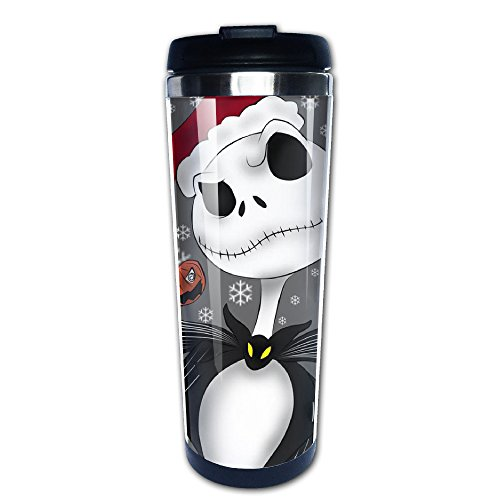 lizizz The Nightmare Before Christmas Edelstahl Tasse/Kaffee Thermos & Isolierflasche (Before Nightmare Happy Halloween Christmas)