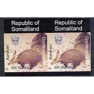 Somaliland 1997 Aardvark 500 SL (from Animal def set) u/m imperf pair ANIMALS AARDVARK JandRStamps