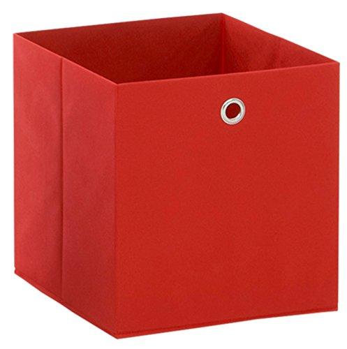 Boîte pliable en intissé coloris Rouge, L 32 X H 32 X P 32 cm -PEGANE-