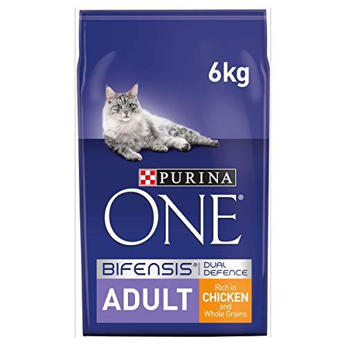 Purina One Nourriture Sèche pour Chat Adulte, Poulet et Grains Entiers - 6 kg