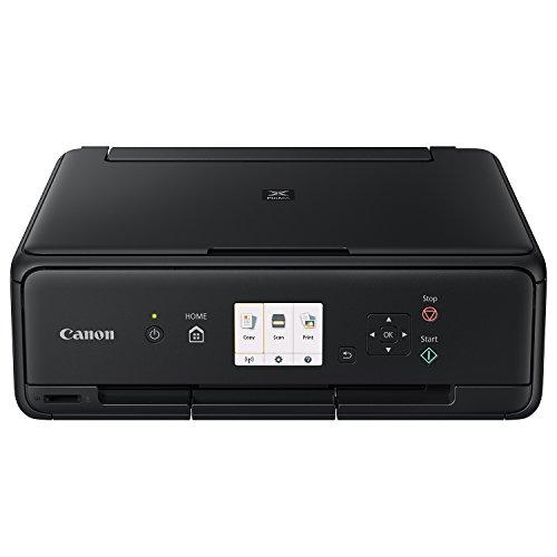Canon PIXMA TS5050 Farbtintenstrahl-Multifunktionsgerät (Drucken, Scannen, Kopieren, 5 separate Tinten, WLAN, Print App, 4.800 x 1.200 dpi) schwarz -