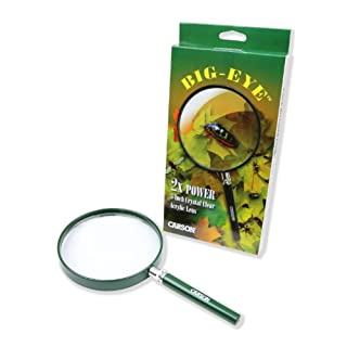 Carson BigEye Handlupe HU-20 mit 12,7 cm Vergrößerungslinse grün