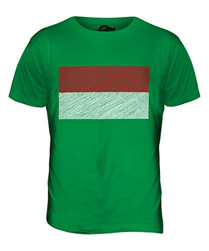 CandyMix Monaco Kritzelte Flagge Herren T Shirt Grün