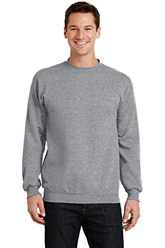 Port & Company® - Core Fleece Crewneck Sweatshirt. PC78 Athletic Heather 3XL Crewneck Fleece Pullover Sweatshirts