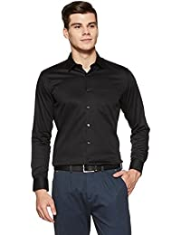 Amazon Brand - Arthur Harvey Men's Solid Formal Shirt
