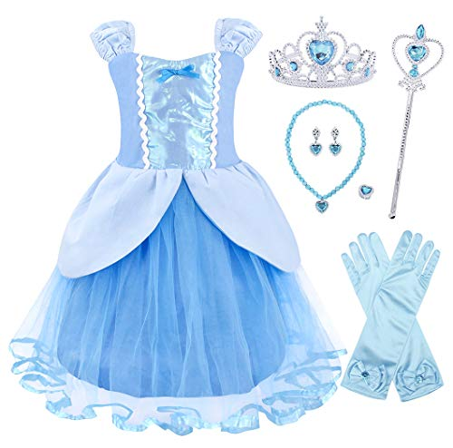 577714595213 AmzBarley Princess Cinderella Dress up Costume for Kids Girls Halloween  Cosplay Fancy Party Dresses Toddlers Childs