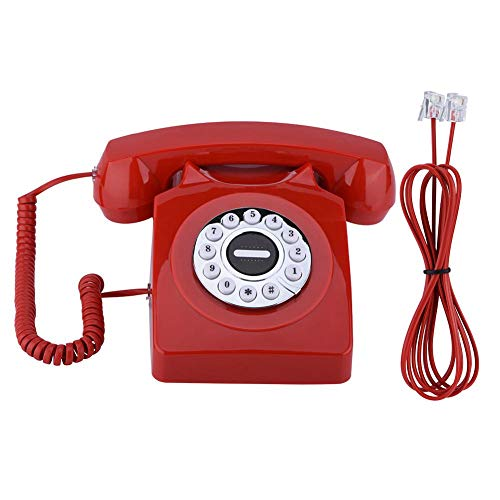 Descripción: Este antiguo teléfono vintage es muy retro, que te ofrece una comunicación excelente sin ruidos y decora tu hogar para hacerla clásica. Y el teléfono a perilla memoriza un número de números de teléfono en caso de emergencia. Especificaci...