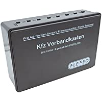 FLEXEO Kraftwagen - Verbandkasten für Erste-Hilfe, gefüllt und in schwarz (für Kfz, nach DIN 13164) preisvergleich bei billige-tabletten.eu