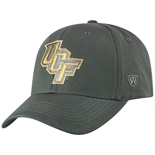 Top of the World Herren Mütze NCAA Fitted Charcoal Icon, Herren, NCAA Men's Fitted Hat Relaxed Fit Charcoal Icon, Central Florida Golden Knights Charcoal, Einstellbar Ucf Golden Knights
