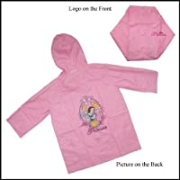 Disney Princess Lightning Mcqueen Girls Pink Waterproof Raincoat