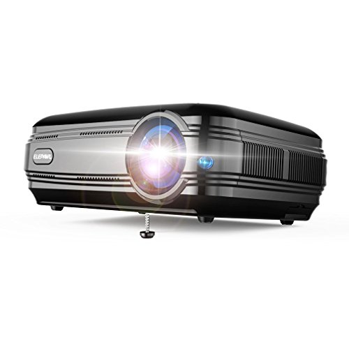 3200 lumens Beamer, LESHP Full HD 1080P Video Beamer LED+LCD Heimkino Videoprojektor 1280 × 800 max Auflösung Kontrast 3000:1,Support 1080P / USB / VGA / SD / HDMI für Xbox / iphone / Smartphone / PC