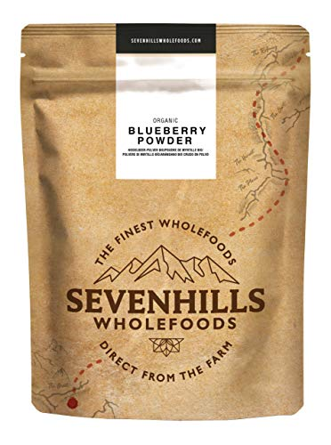 Sevenhills Wholefoods Organic Blueberry Powder, Raw Freeze-Dried, 200g