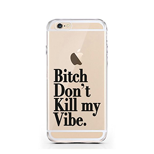 iPhone 5 5S SE Hülle von licaso® für das Apple iPhone 5S aus TPU Silikon Ein bisschen Dick is nicht so slim! Vögelchen Dickie Muster ultra-dünn schützt Dein iPhone 5SE & ist stylisch Schutzhülle Bumpe Bitch don't kill my Vibe