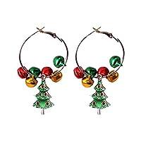 Coxeer Bell Drop Earrings Decorative Holiday Dangle Earrings Pierced Earrings for Girls