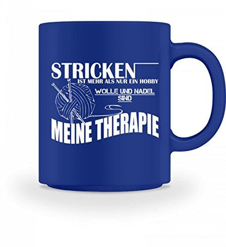 Hochwertige Tasse - Stricken ist meine Therapie