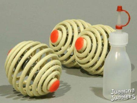 3x Kevlar 68mm Jonglieren Fire Bälle, Jonglieren DVD, Reisetasche & Kraftstoff Flasche