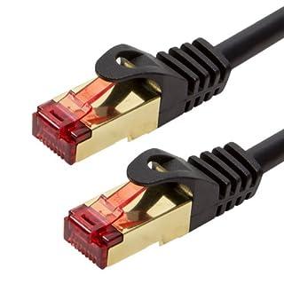 BIGtec Premium 0,75m Gigabit Ethernet LAN Kabel Patchkabel Netzwerkkabel schwarz - doppelt geschirmt - vergoldet