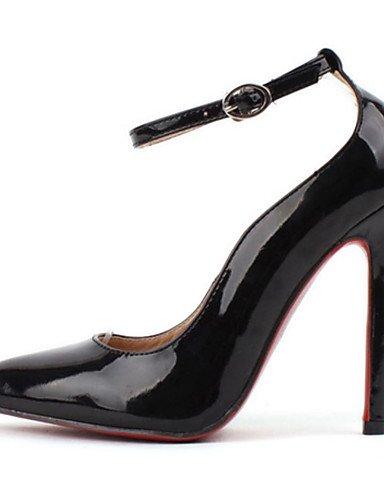 WSS 2016 Chaussures Femme-Mariage / Habillé-Noir / Amande-Talon Aiguille-Confort / Bout Pointu-Chaussures à Talons-Polyuréthane black-us8.5 / eu39 / uk6.5 / cn40
