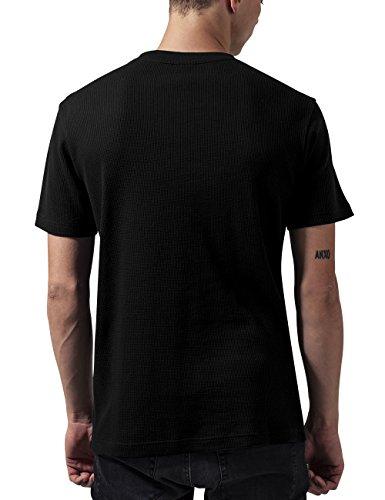 Urban Classics Thermal Tee, T-Shirt Uomo Nero (Black 7)