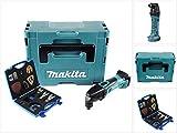 Makita DTM 50 ZJ 18V Li-Ion Akku Multifunktionswerkzeug Solo im Makpac + WellCut MT-20 Klingen Set, ohne Akku, ohne Ladegerät