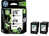 #6: HP 678 Black Original Ink Advantage Cartridges, Pack of 2