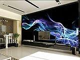 Murale Panoramico Carta Da Parati Della Foto 3D Personalizzata Soggiorno Murale Fiore Blu Fiamma 3D Wallpaper Tv Sfondo Parete Non Tessuta 3D Per Parete 3D