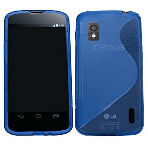 Samrick S Wave Hydro Gel Protective Case for LG Nexus 4 E960 and Google Nexus 4 - Blue