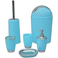 FLAMEER Conjunto De Accesorios De Baño Dispensador De Jabón para Encimera Plato Portavasos ect. -