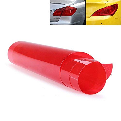 2 PCS Scheinwerfer Folie Tönungsfolie Aufkleber 120cm x 30cm für Auto Scheinwerfer Rückleuchten Blinker Nebelscheinwerfer (Rot)