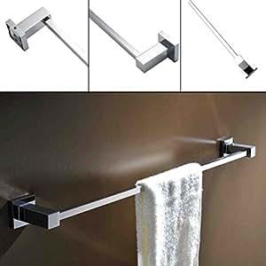 Kinse porta asciugamani singolo da parete per bagno e doccia portasalviette in ottone e acciaio - Amazon porta asciugamani bagno ...