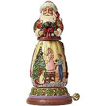 Enesco Heartwood Creek Oggetto Decorativo e Musicale Babbo Natale Musicale Girando, Resina, Multicolore