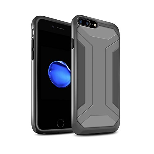 STUFF4 Glanz Harten Stoßfest Hülle / Case für Apple iPhone 7 Plus / Pack 5pcs / Rüstung Kollektion Klammer