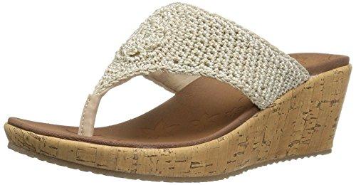 Skechers?¨C?Pamper Marrone Comfort?¨C?Infradito claquettes, (Natural Crochet), 35.5 EU