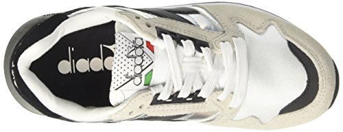 Diadora Ic 4000 Hologram, Sneaker Bas du Cou Mixte Adulte Blanc Cassé (Bianco)