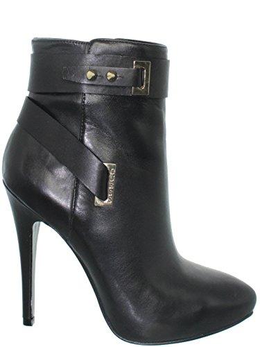 Guess Femmes Bottes Shanda Shootie Boot Fermeture eclair Talon Cm 11 Plateau Cm 1,5 Suede Black