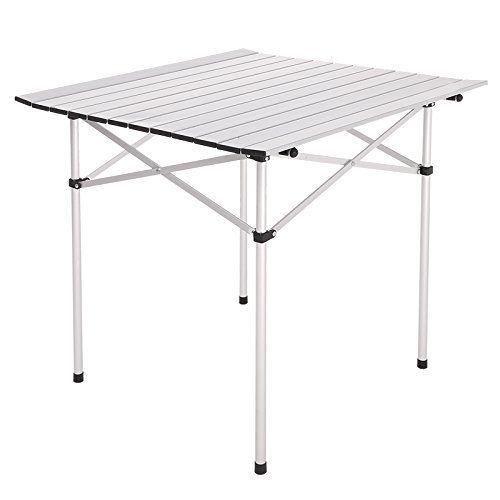 Flabor Campingtisch Klappbar Outdoor Picknick Universaltisch Falttisch Gartentisch, 69,5 x 68 x 69 cm …