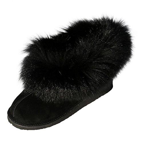 Hollert German Leather Fashion, Pantofole donna Nero