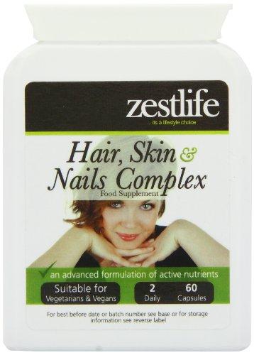 Zestlife pelle capelli e unghie! Supporto 60 capsule | Una formulazione nutriente completa di vitamine, minerali , amminoacidi e antiossidanti che aiutano a nutrire i capelli , unghie e pelle dall'interno.