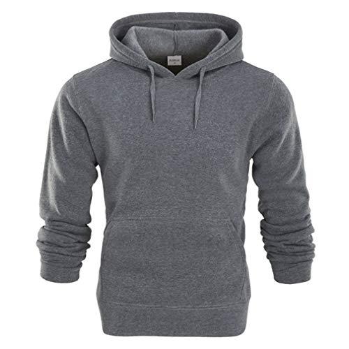 Männer Casual Hoodies Sweatshirt Einfarbig Print Trend Fleece -