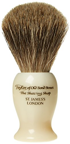 Taylor di Old Bond Street medio Pure Badger Pennello da barba, imitazione avorio