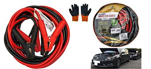 Ledsa mart cavi di avviamento professionali per auto, furgoni, camion con guanti di sicurezza e custodia per il trasporto