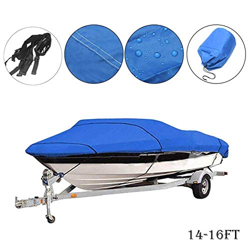 Trailerable Boot-Abdeckung, strapazierfähig, 7,6-6°m, 210D, UV-geschützt, wasserfest, für Boote, Speedboat, Fisch-Ski, 14-16ft(510 * 230cm) -