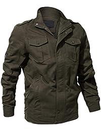 Innerternet Manteau Veste Homme Vêtements à Manches Longues Classique Hiver  épais Chaud Rétro Flight Jacket Aviateur 34554f2d972