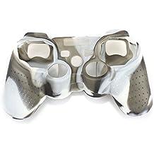 Amison protectora de silicona Fundas y protectores para Sony PS2 PS3 Controller (blanco)