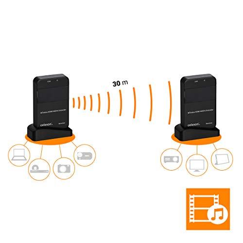 celexon Expert HDMI-Funk-Set WHD30M - Auflösungen von VGA bis WUXGA - TV-Formate 480i/576i bis 1080p@60HZ - 3D Video -