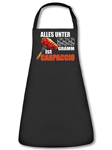 Grillen BBQ Alles unter 500 Gramm ist Carpaccio 4829 Garten Unisex Grillschürze Kochschürze Latzschürze Küchenschürze Schwarz